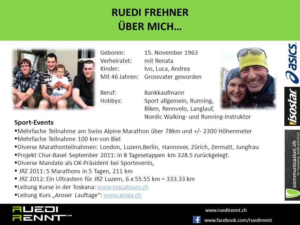 www.facebook.com/ruedirennt www.ruedirennt.ch RUEDI FREHNER ÜBER MICH… Geboren: 15.