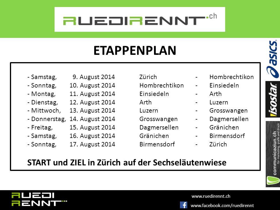 - Samstag, 9.August 2014Zürich-Hombrechtikon - Sonntag, 10.