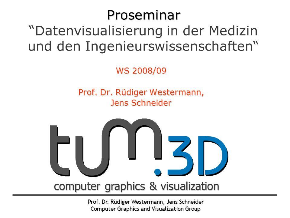"Prof. Dr. Rüdiger Westermann, Jens Schneider Computer Graphics and Visualization Group computer graphics & visualization Proseminar Proseminar ""Datenv"