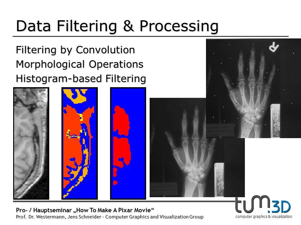 "computer graphics & visualization Pro- / Hauptseminar ""How To Make A Pixar Movie"" Prof. Dr. Westermann, Jens Schneider – Computer Graphics and Visuali"