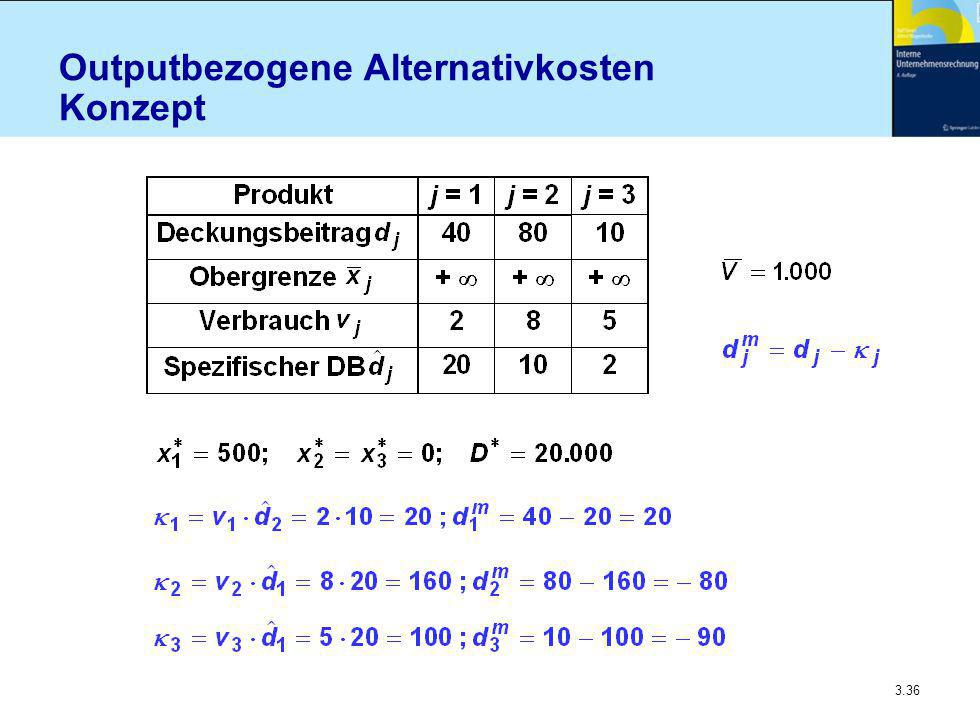 3.36 Outputbezogene Alternativkosten Konzept