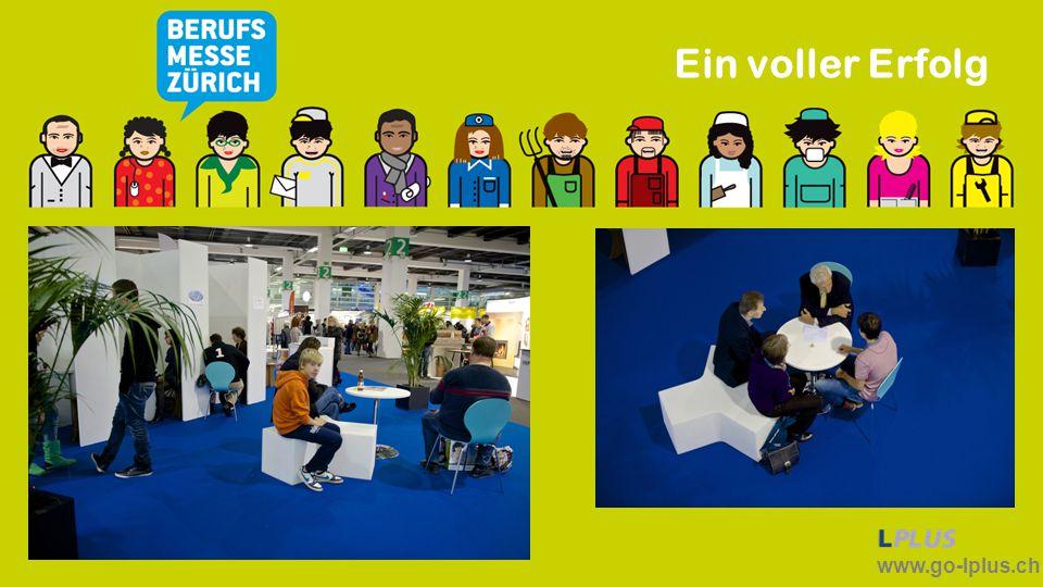 """www.go-lplus.ch Herzlichen Dank Ihnen Persönlich, der Messe Zürich, den mitwirkenden Firmen, allen Mitwirkenden, der UNTERNEHMERGRUPPE WEWTTBEWERBSFÄHIGKEIT, den Gönnern und Freunden von LPLUS möchte ich auch im Namen der Jugendlichen """"Dankeschön sagen."""