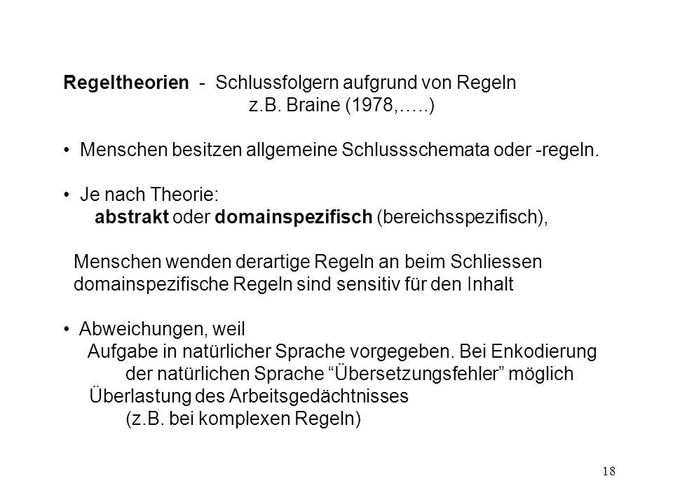 18 Regeltheorien - Schlussfolgern aufgrund von Regeln z.B.
