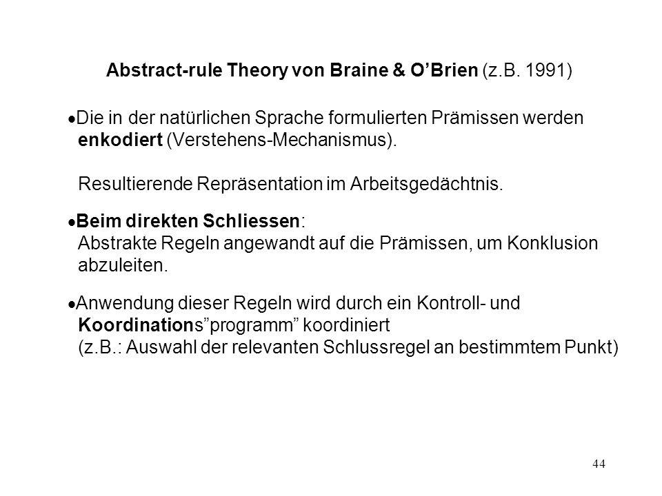 44 Abstract-rule Theory von Braine & O'Brien (z.B.
