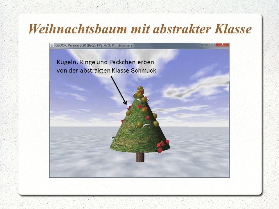 Weihnachtsbaum mit abstrakter Klasse Kugeln, Ringe und Päckchen erben von der abstrakten Klasse Schmuck