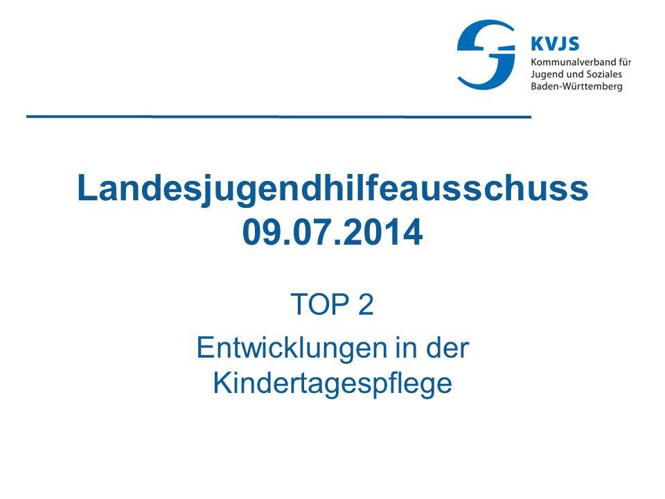 Landesjugendhilfeausschuss 09.07.2014 TOP 2 Entwicklungen in der Kindertagespflege