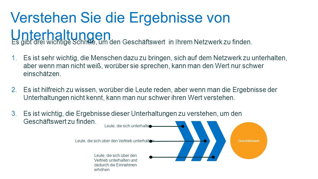 Der Geschäftswert hängt von der Reife des Netzwerks ab Denken Sie daran, dass die Verbindungen in einem Netzwerk fast exponentiell mit der Anzahl von Mitgliedern im Netzwerk anwachsen.