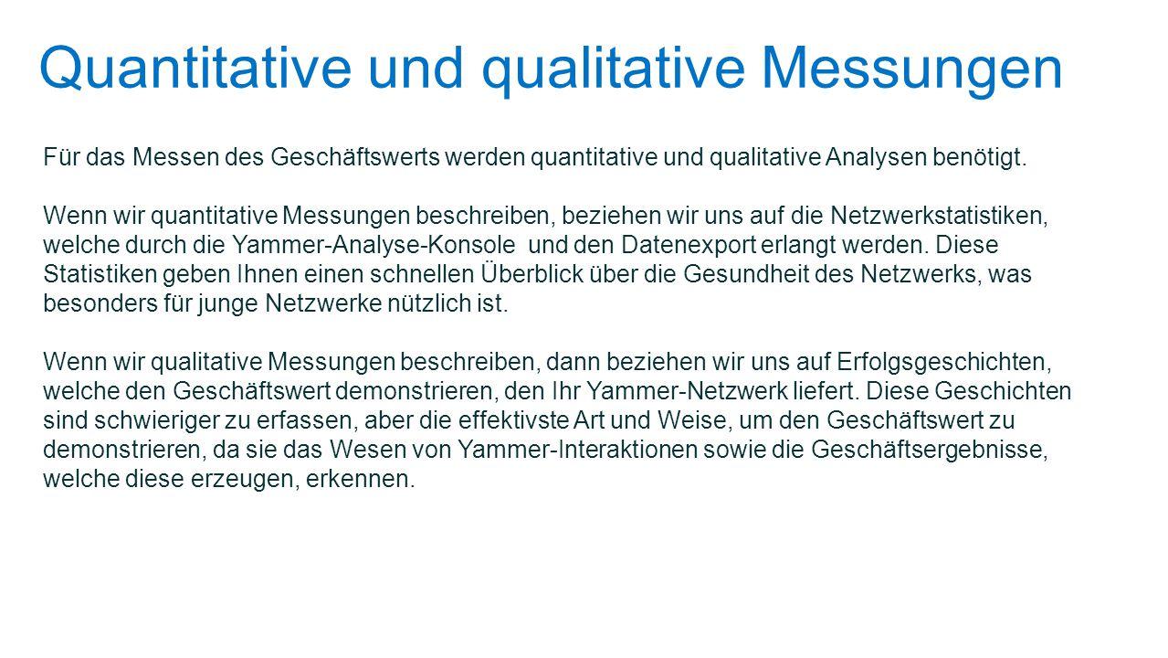 II. Qualitative Messungen