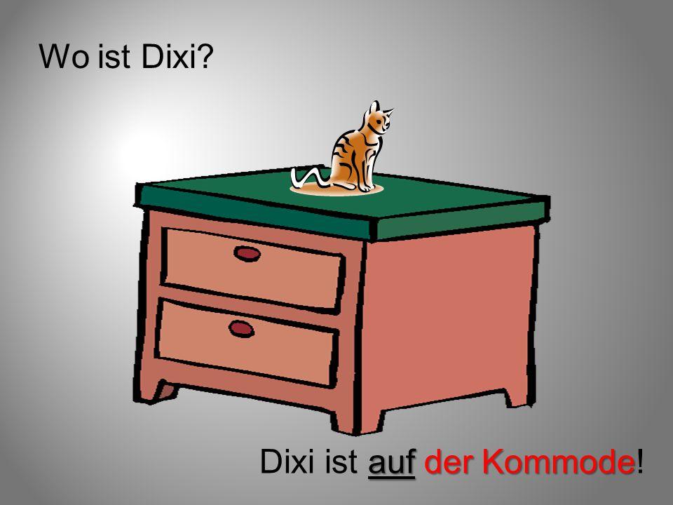 Wo ist Dixi? auf der Kommode Dixi ist auf der Kommode!