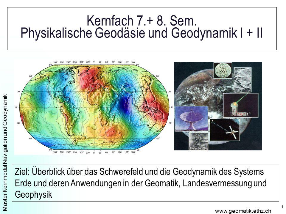Master Kernmodul Navigation und Geodynamik www.geomatik.ethz.ch 1 Kernfach 7.+ 8.