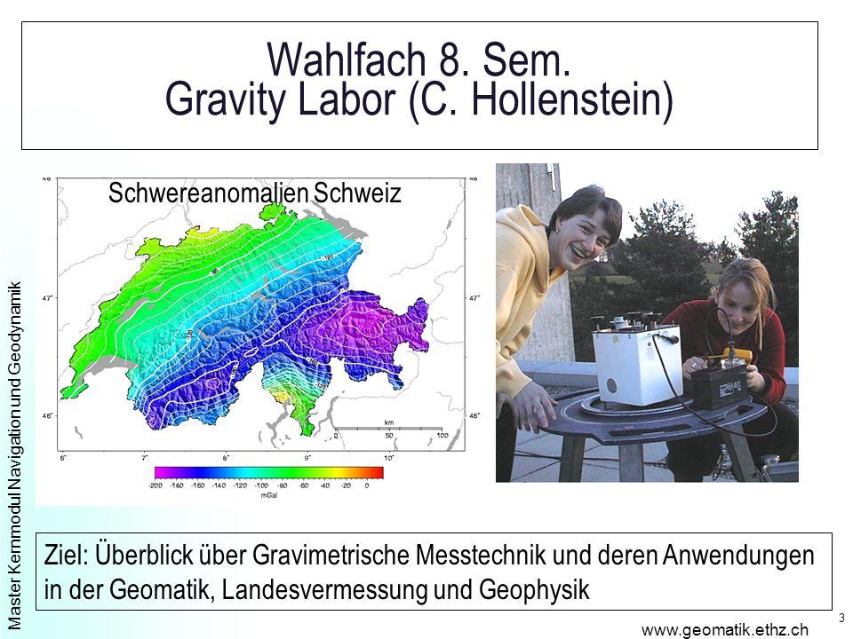 Master Kernmodul Navigation und Geodynamik www.geomatik.ethz.ch 4 Kernfach 7.
