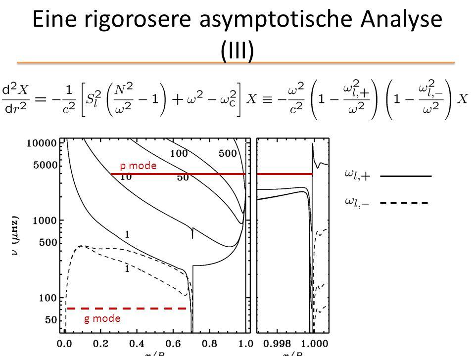 Eine rigorosere asymptotische Analyse (III) g mode p mode
