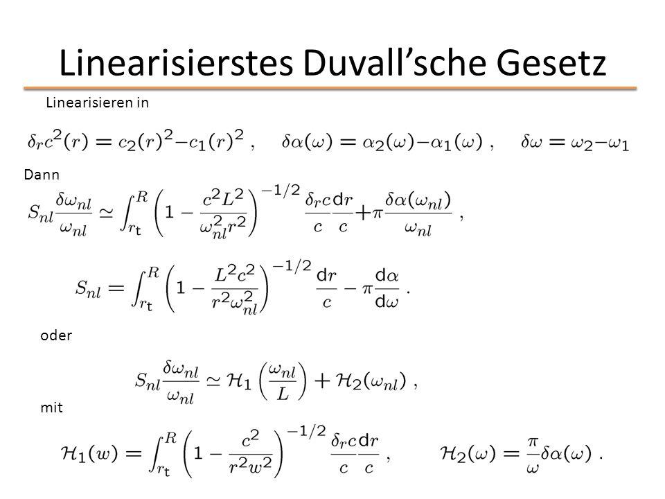 Linearisierstes Duvall'sche Gesetz Linearisieren in Dann oder mit