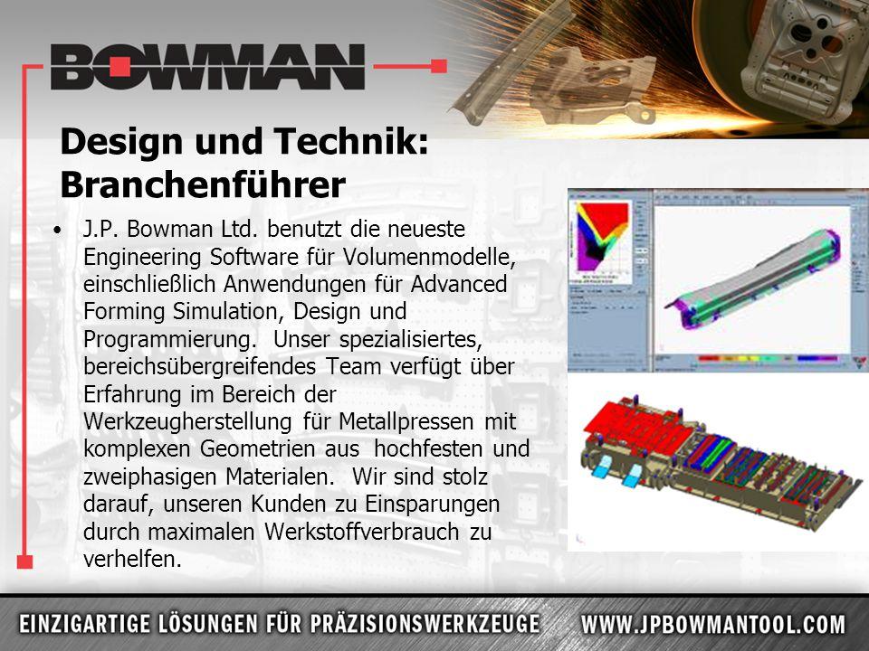 Design und Technik: Branchenführer J.P. Bowman Ltd. benutzt die neueste Engineering Software für Volumenmodelle, einschließlich Anwendungen für Advanc