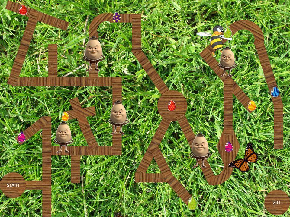 Versuche auf deinem Weg durch das Labyrinth die Eier einzusammeln! weiter