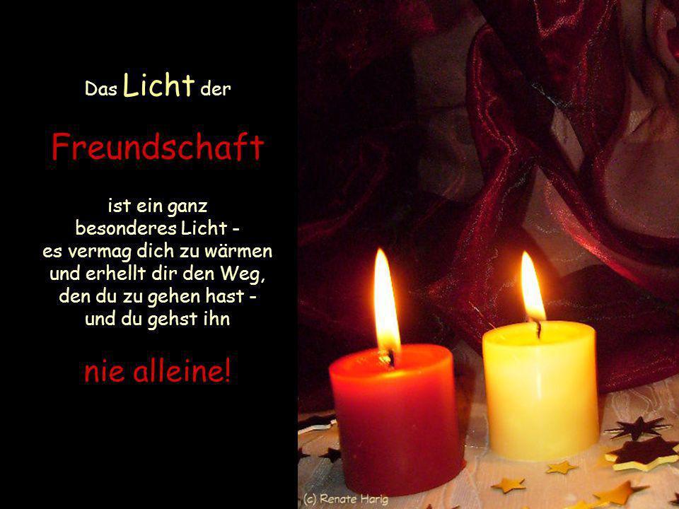 In Zeiten der Dunkelheit zünde ein Licht an - und wenn es nur ganz klein ist, so wirst du getröstet sein
