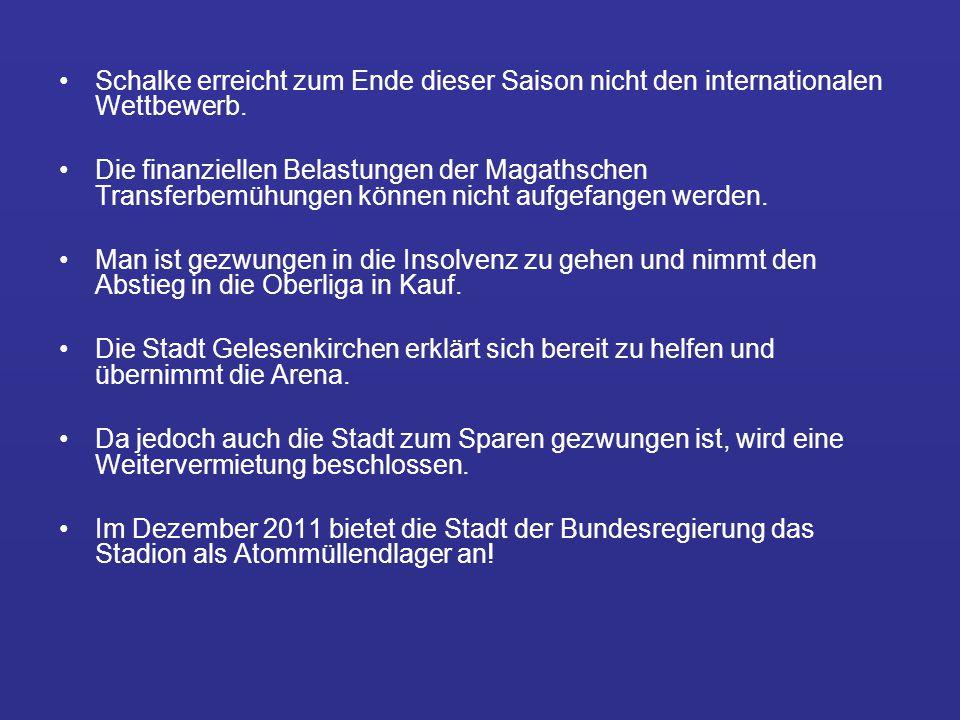 Schalke erreicht zum Ende dieser Saison nicht den internationalen Wettbewerb.
