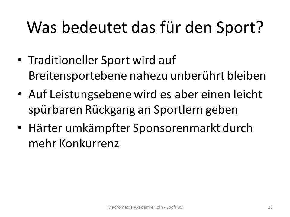 Was bedeutet das für den Sport.