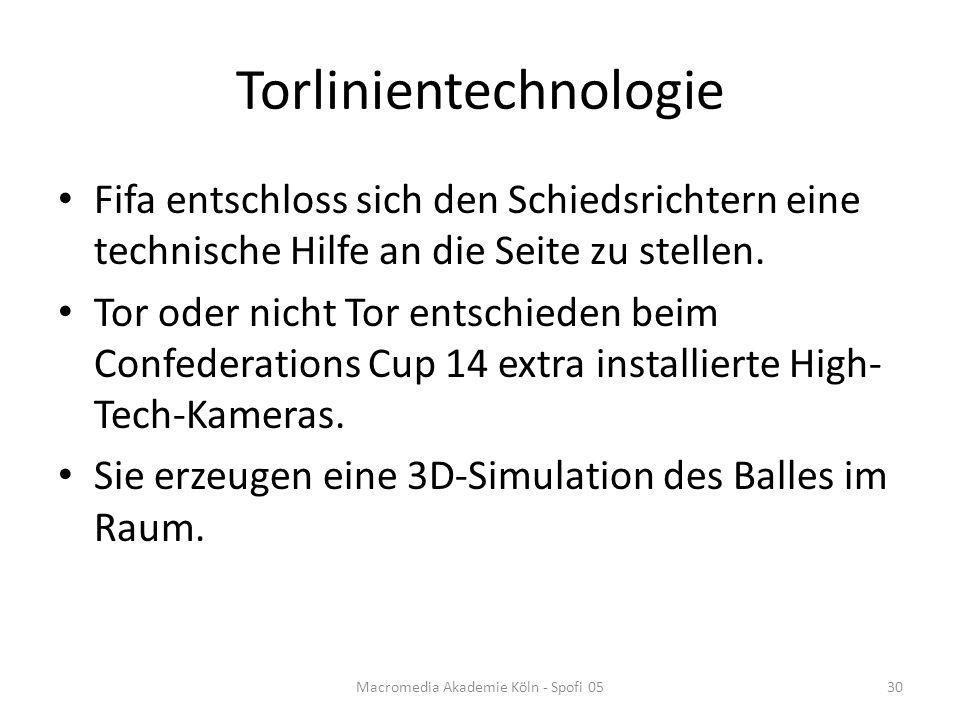 Torlinientechnologie Fifa entschloss sich den Schiedsrichtern eine technische Hilfe an die Seite zu stellen.