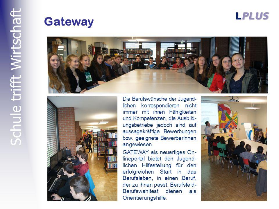 Schule trifft Wirtschaft Gateway Die Berufswünsche der Jugend- lichen korrespondieren nicht immer mit ihren Fähigkeiten und Kompetenzen, die Ausbild- ungsbetriebe jedoch sind auf aussagekräftige Bewerbungen bzw.