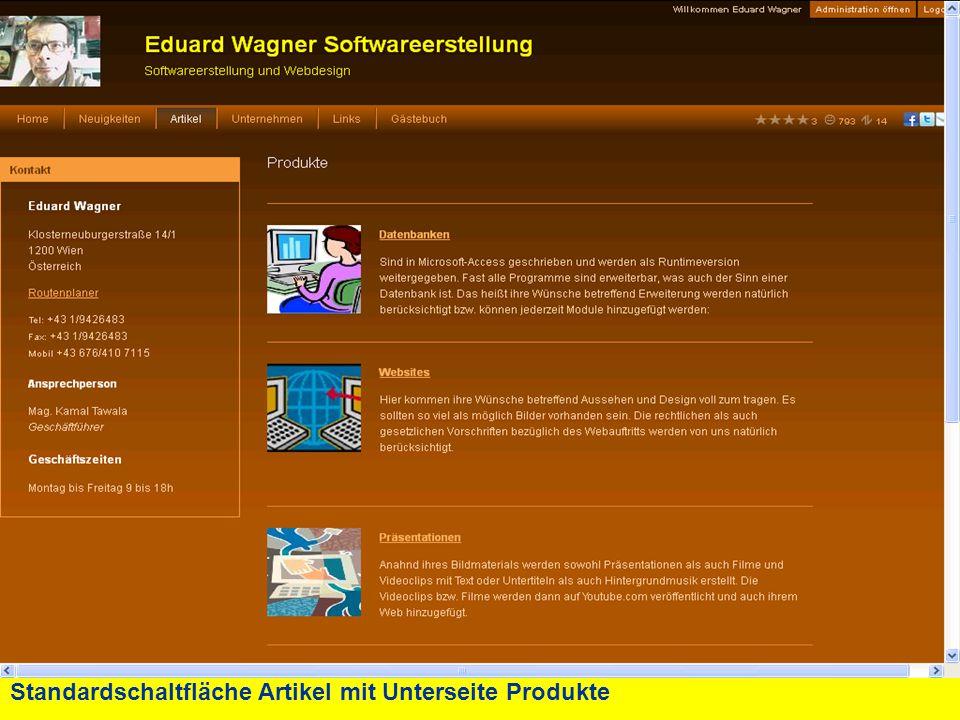 Standardschaltfläche Artikel mit Unterseite Produkte