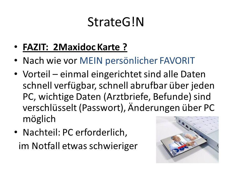 StrateG!N FAZIT: 2Maxidoc Karte .