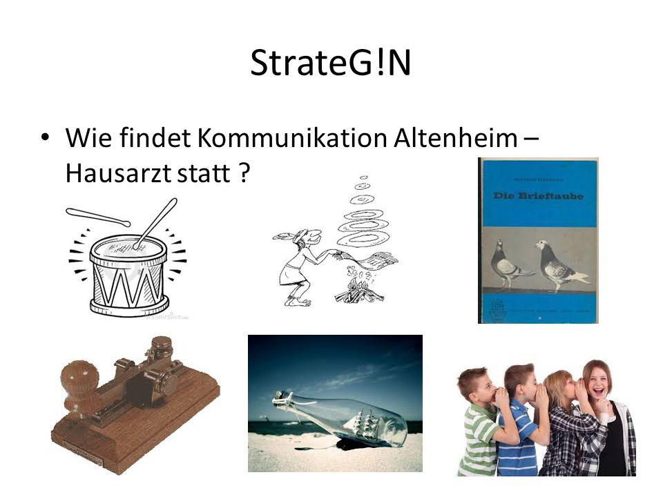 StrateG!N Wie findet Kommunikation Altenheim – Hausarzt statt ?