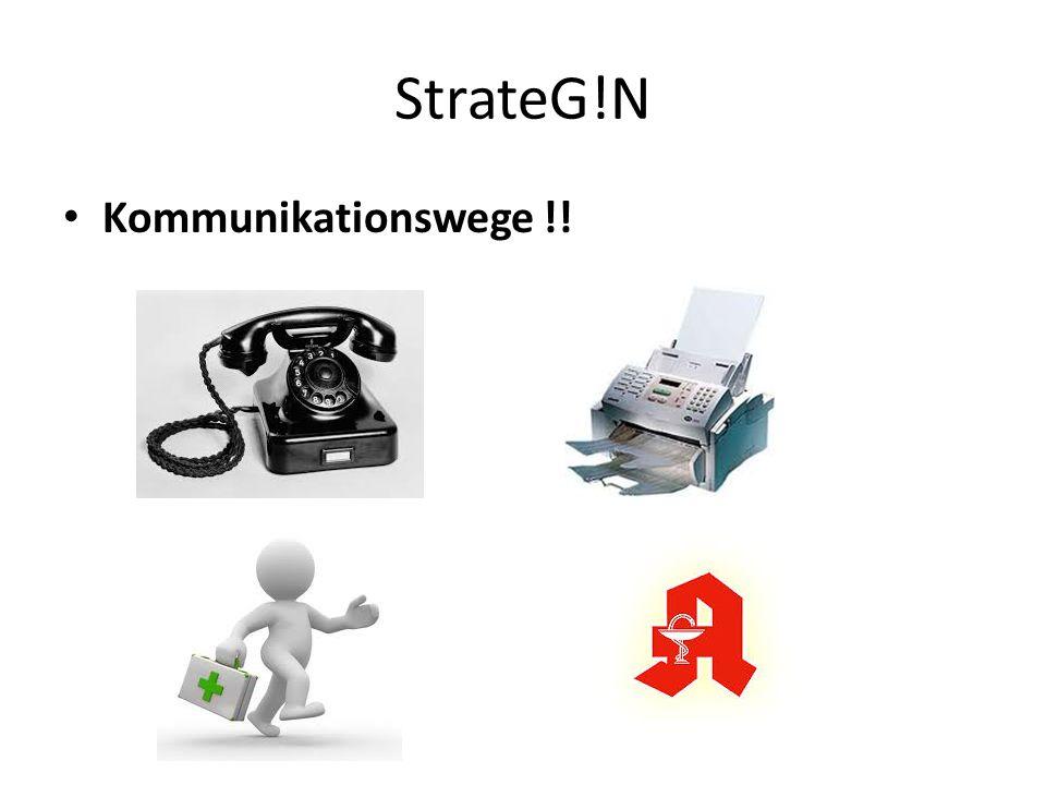 StrateG!N Kommunikationswege !!