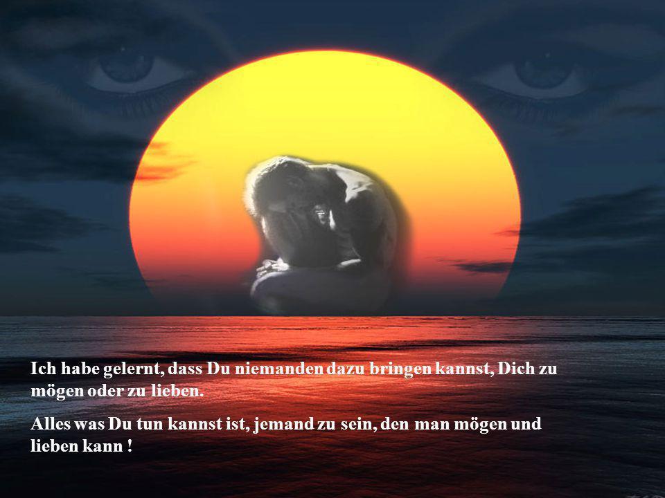 Ich habe gelernt, dass es Menschen gibt,- die aufrichtig lieben,- aber nicht wissen,- wie sie es zeigen sollen !