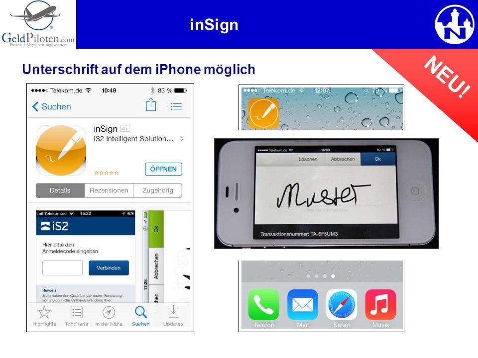 Unterschrift auf dem iPhone möglich inSign NEU!