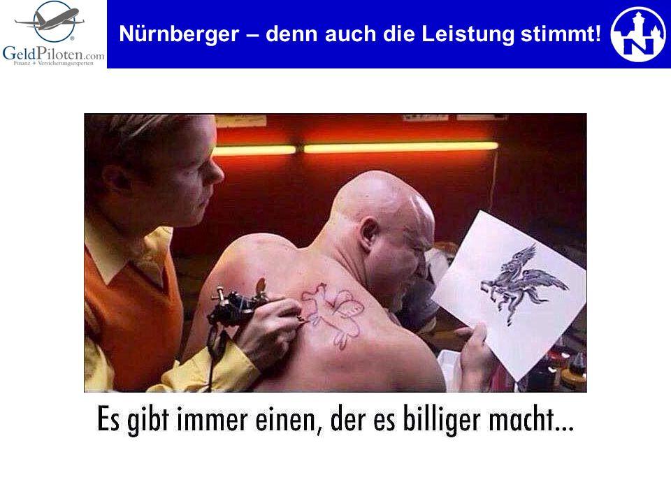 Nürnberger – denn auch die Leistung stimmt!