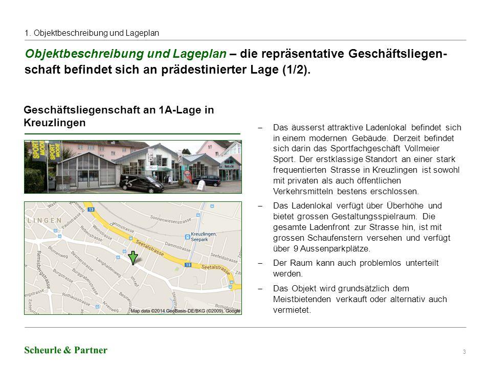 3 Objektbeschreibung und Lageplan – die repräsentative Geschäftsliegen- schaft befindet sich an prädestinierter Lage (1/2).