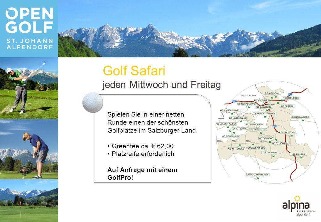 Spielen Sie in einer netten Runde einen der schönsten Golfplätze im Salzburger Land.