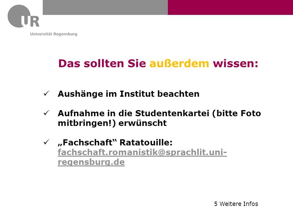 """Das sollten Sie außerdem wissen: Aushänge im Institut beachten Aufnahme in die Studentenkartei (bitte Foto mitbringen!) erwünscht """"Fachschaft"""" Ratatou"""