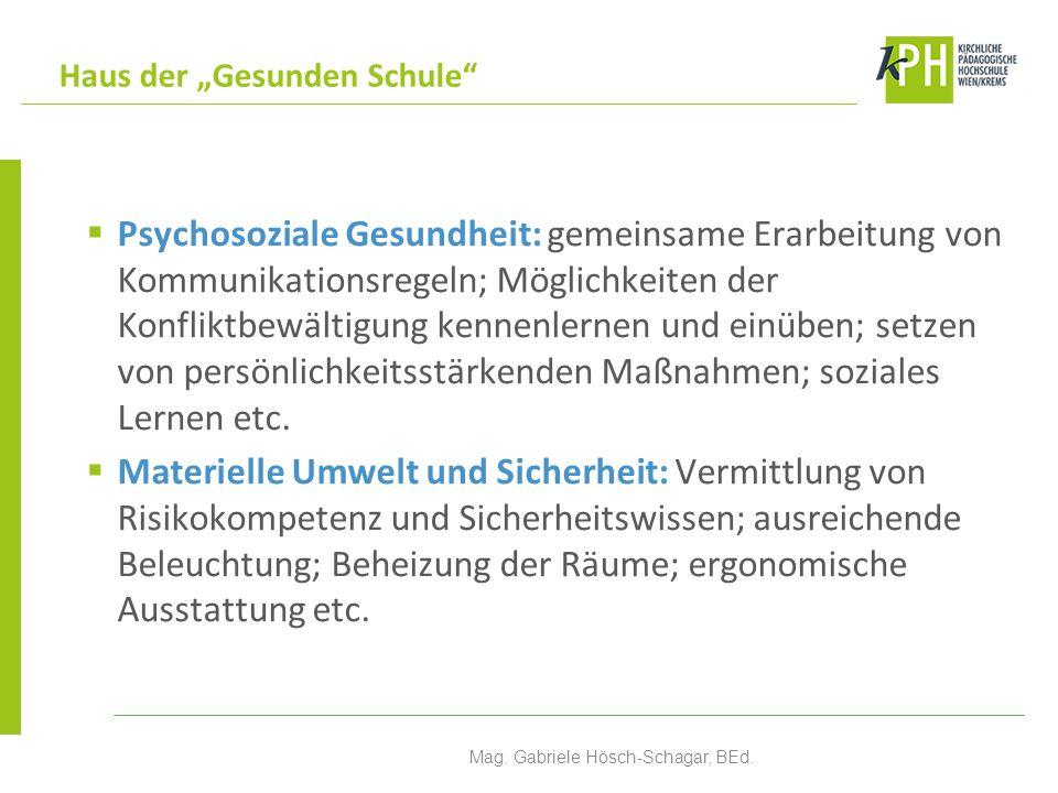 """ Überschneidende Aktionsbereiche: Verbindung der """"Gesunden Schule & ÖKOLOG Mag."""