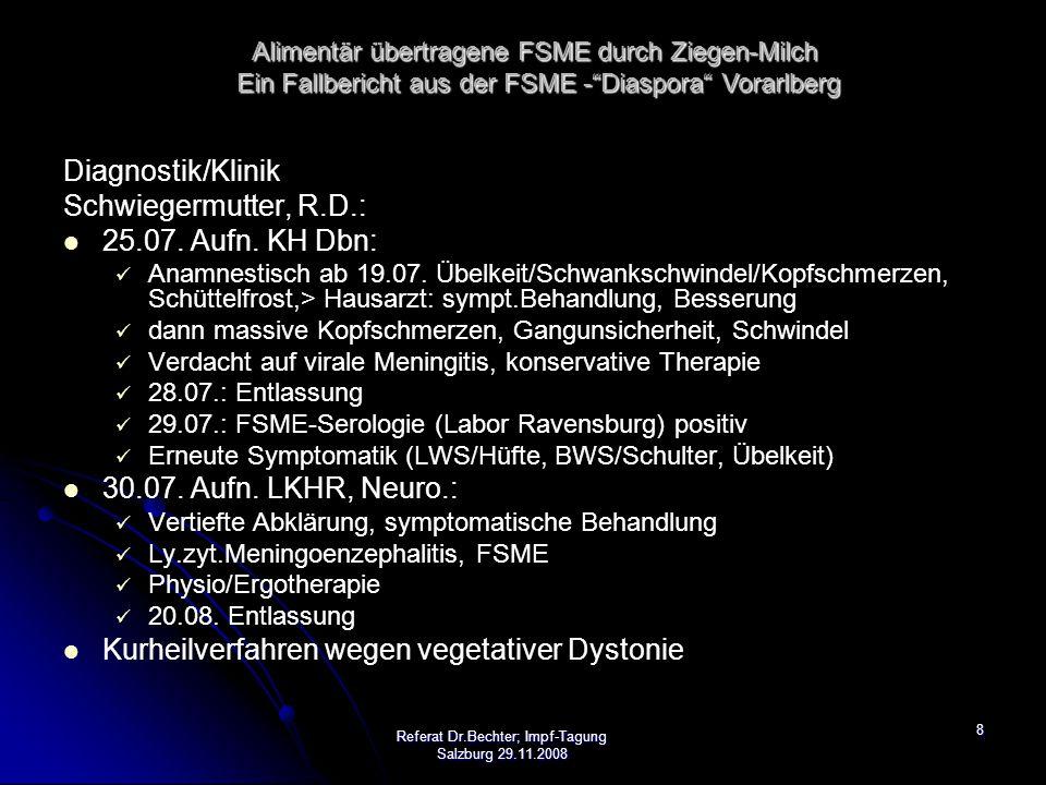 9 Diagnostik/Klinik Familien-Freund M.S.20.07. Ambulanz KH Dornbirn: seit ca.