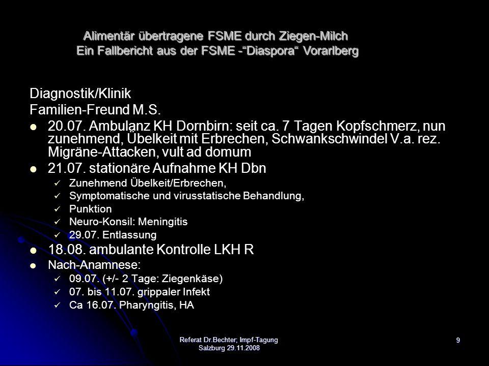 10 Diagnostik/Klinik Ehegattin des Indexfalles, S.B.: 13./26.08.