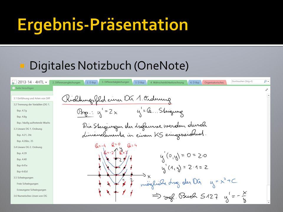  Digitales Notizbuch (OneNote)