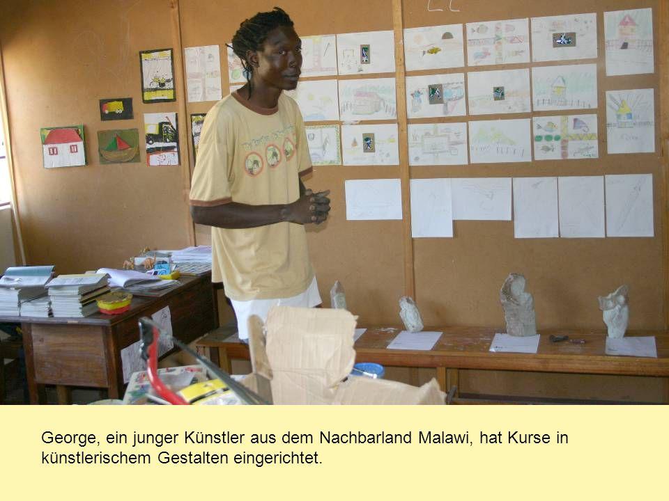 George, ein junger Künstler aus dem Nachbarland Malawi, hat Kurse in künstlerischem Gestalten eingerichtet.