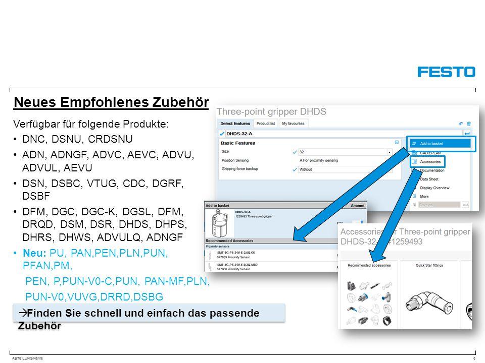 ABTEILUNG/Name Neues Empfohlenes Zubehör Verfügbar für folgende Produkte: DNC, DSNU, CRDSNU ADN, ADNGF, ADVC, AEVC, ADVU, ADVUL, AEVU DSN, DSBC, VTUG,