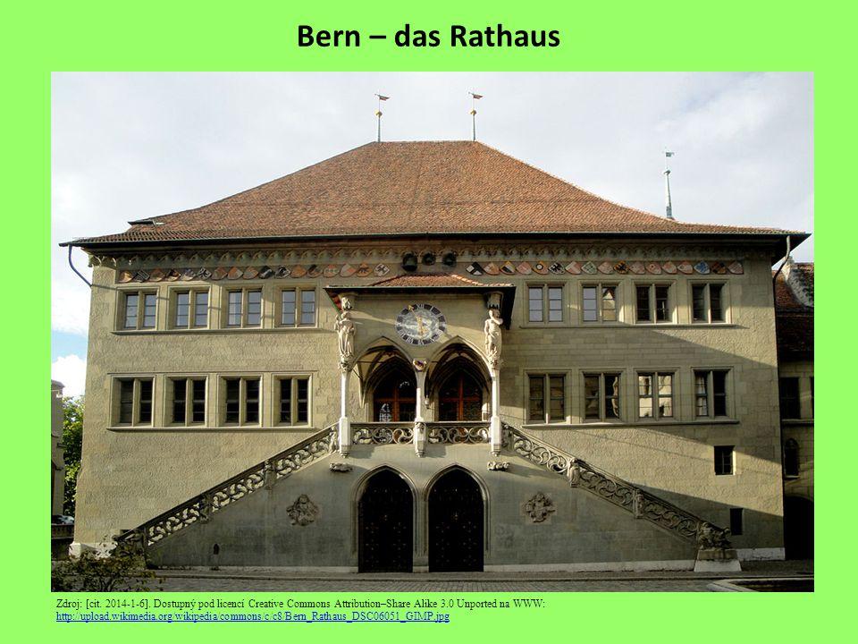 Bern – der Zeitglockenturm Zdroj: [cit.2014-1-6].