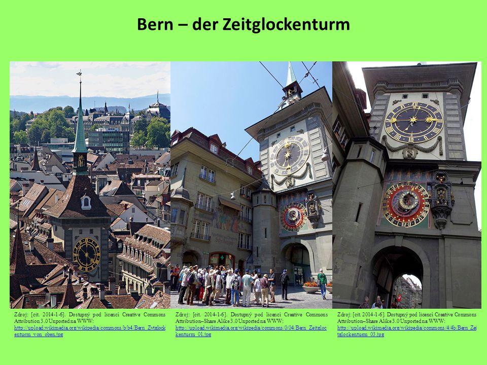 Bern – der Zeitglockenturm Zdroj: [cit. 2014-1-6].