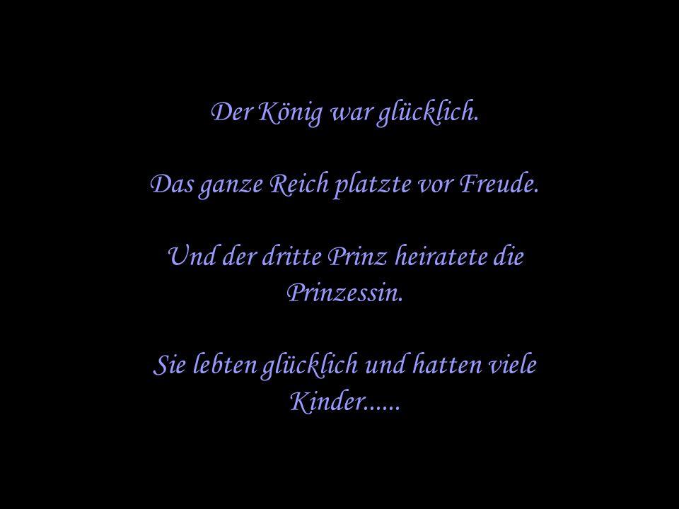 Der dritte Prinz näherte sich und bat die Prinzessin: Stecke…Deine Hand in meine Hosentasche und berühre das, was Du tief drinnen findest.
