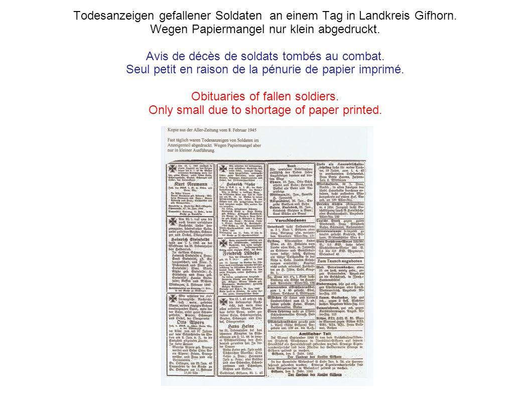 Flugblatt der Amerikaner mit der Aufforderung den Krieg zu beenden. Abgeworfen aus Flugzeugen über Deutschland. Un appel pour mettre fin à la guerre.