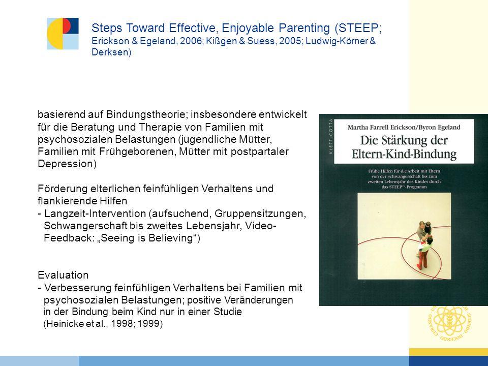 basierend auf Bindungstheorie; insbesondere entwickelt für die Beratung und Therapie von Familien mit psychosozialen Belastungen (jugendliche Mütter,