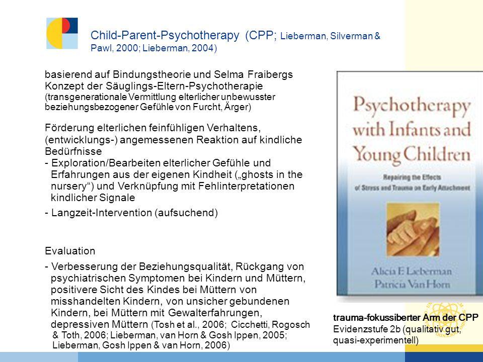 basierend auf Bindungstheorie und Selma Fraibergs Konzept der Säuglings-Eltern-Psychotherapie (transgenerationale Vermittlung elterlicher unbewusster