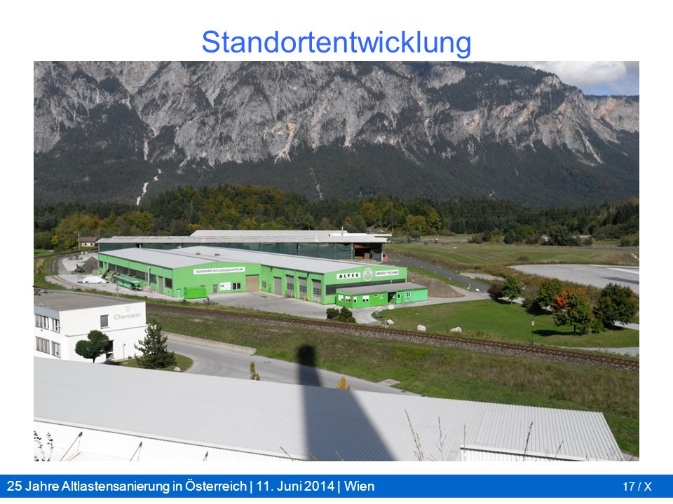 25 Jahre Altlastensanierung in Österreich | 11. Juni 2014 | Wien 17 / X Standortentwicklung 1992 2012