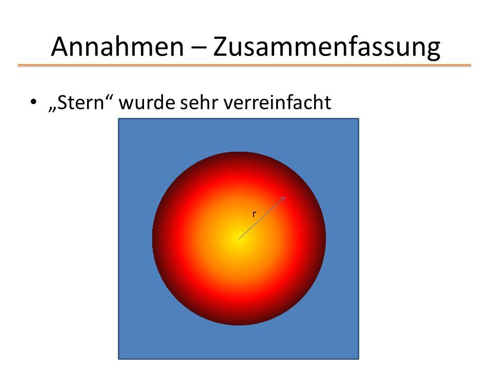 """Annahmen – Zusammenfassung """"Stern"""" wurde sehr verreinfacht r"""