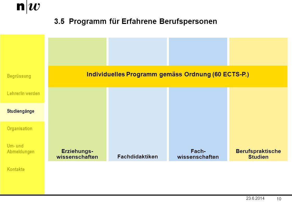 Begrüssung Lehrer/in werden Studiengänge Organisation Um- und Abmeldungen Kontakte Fach- wissenschaften Erziehungs- wissenschaftenFachdidaktiken Beruf