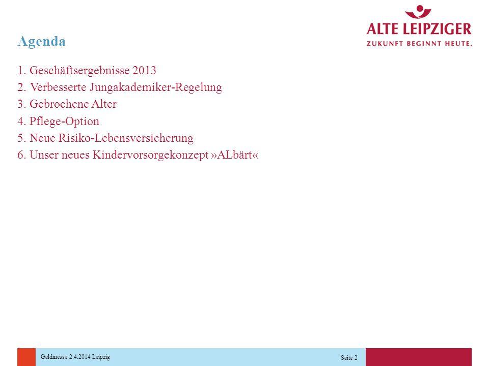 Geldmesse 2.4.2014 Leipzig Seite 2 Agenda 1.